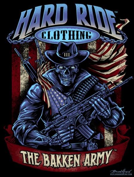 American Patriot Skull T-Shirt Design