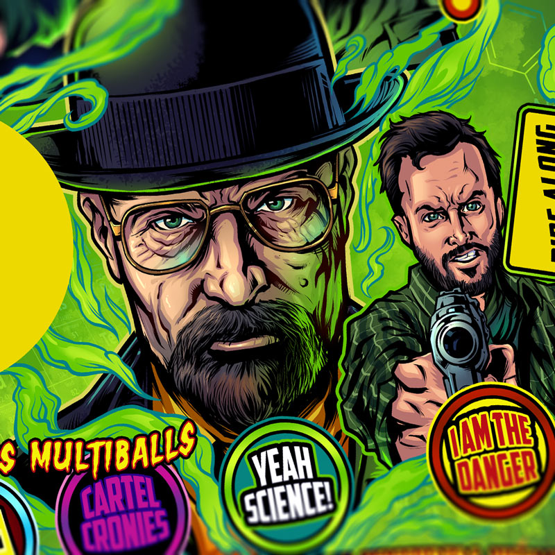Breaking Bad Pinball Playfield I