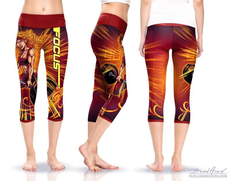 Crossfit Comic Book Yoga Pants