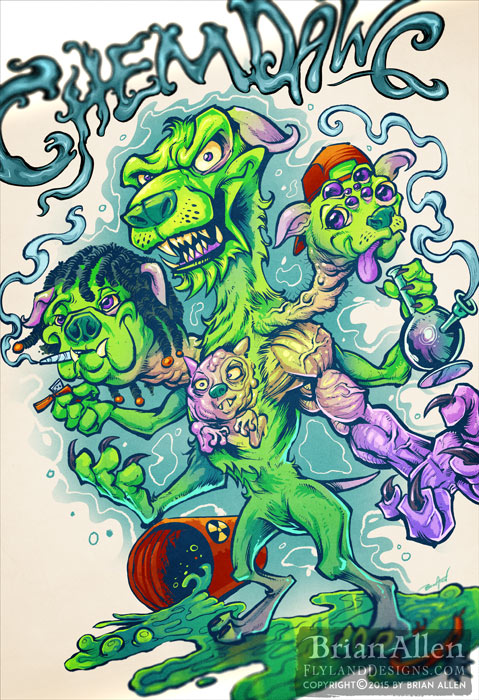 Sour patch kids illustration for Sour Diesel marijuana strain