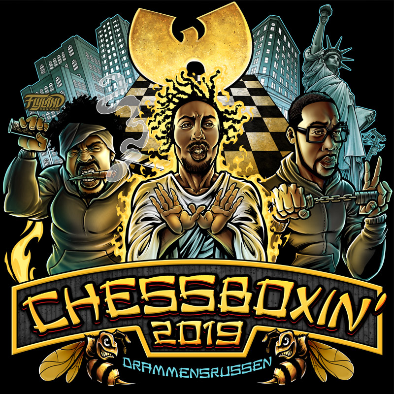 Chessboxin is a logo of the Wu-T