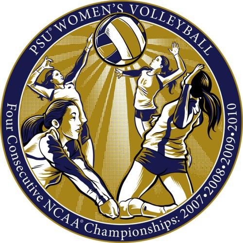 Christmas ornament illustrating PSU Women's Volleyball NCAA Championship