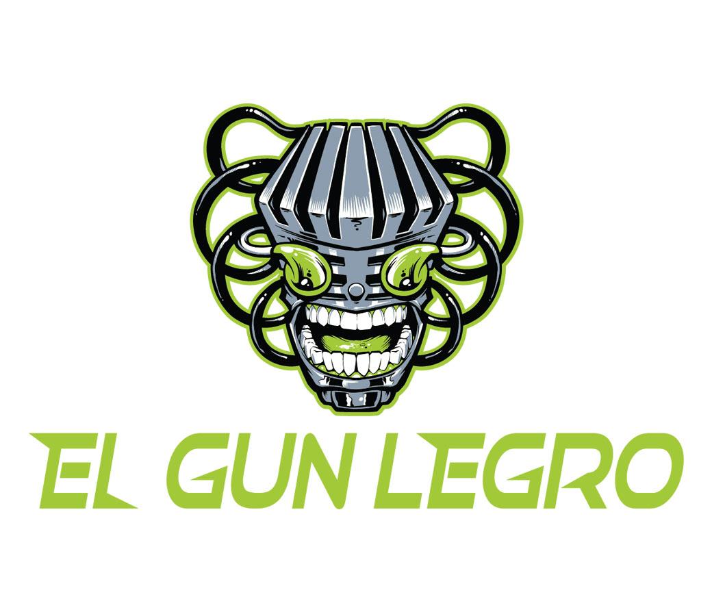 Logo Design of a robot for Nerdcore Rapper El Gun Legro