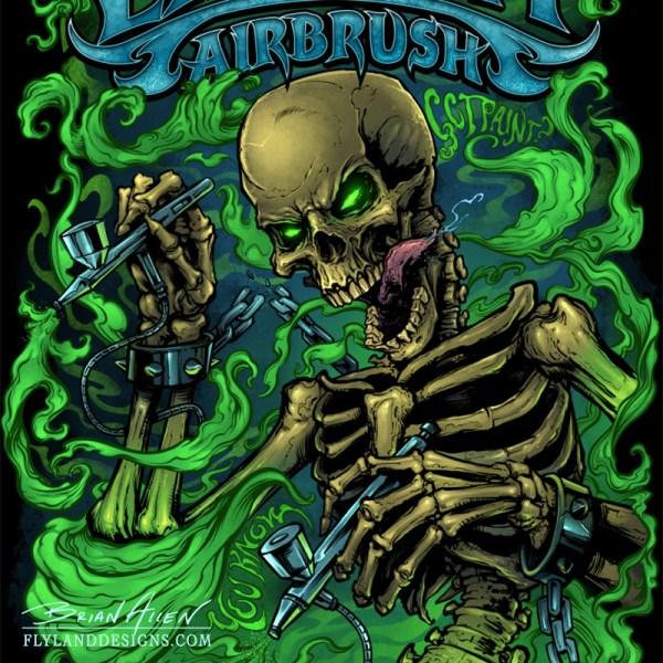 Zombie Airbrush T-Shirt Design