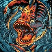 T-shirt design of evil looking f