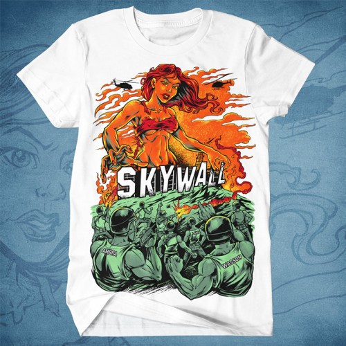 silk-screen T-shirt illustration