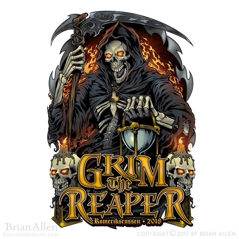 Dark illustration of a grim reap