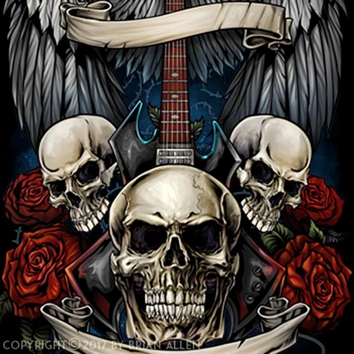 Dark heavy metal t-shirt design