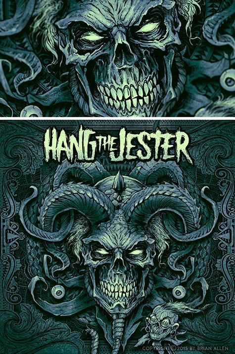Evil skull jester album cover il