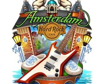Hard Rock Cafe T-Shirt design of Amsterdam