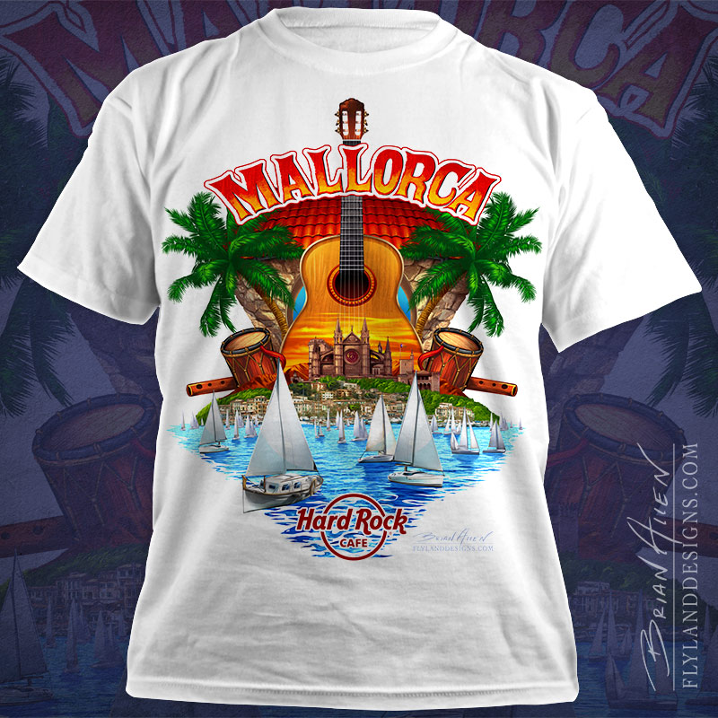 Hard Rock Cafe T-Shirt design of Mallorca, Spain
