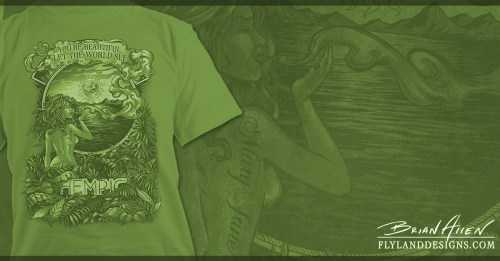 Naked woman standing in the jungle smoking marijuana