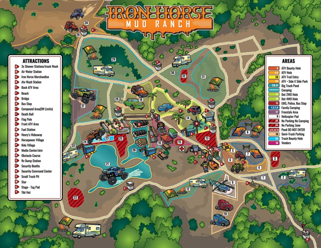 Iron Horse Mud Ranch Illustrated