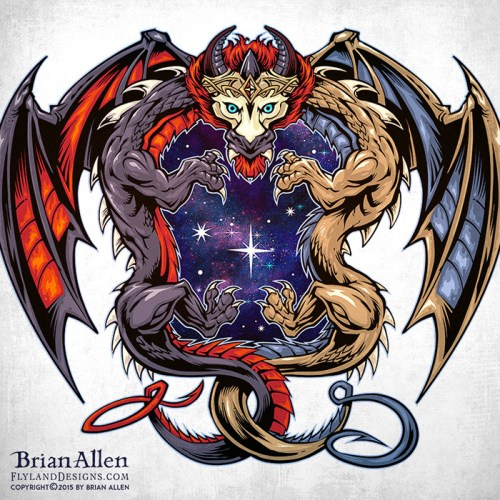 Dragon logo illustration for Twi