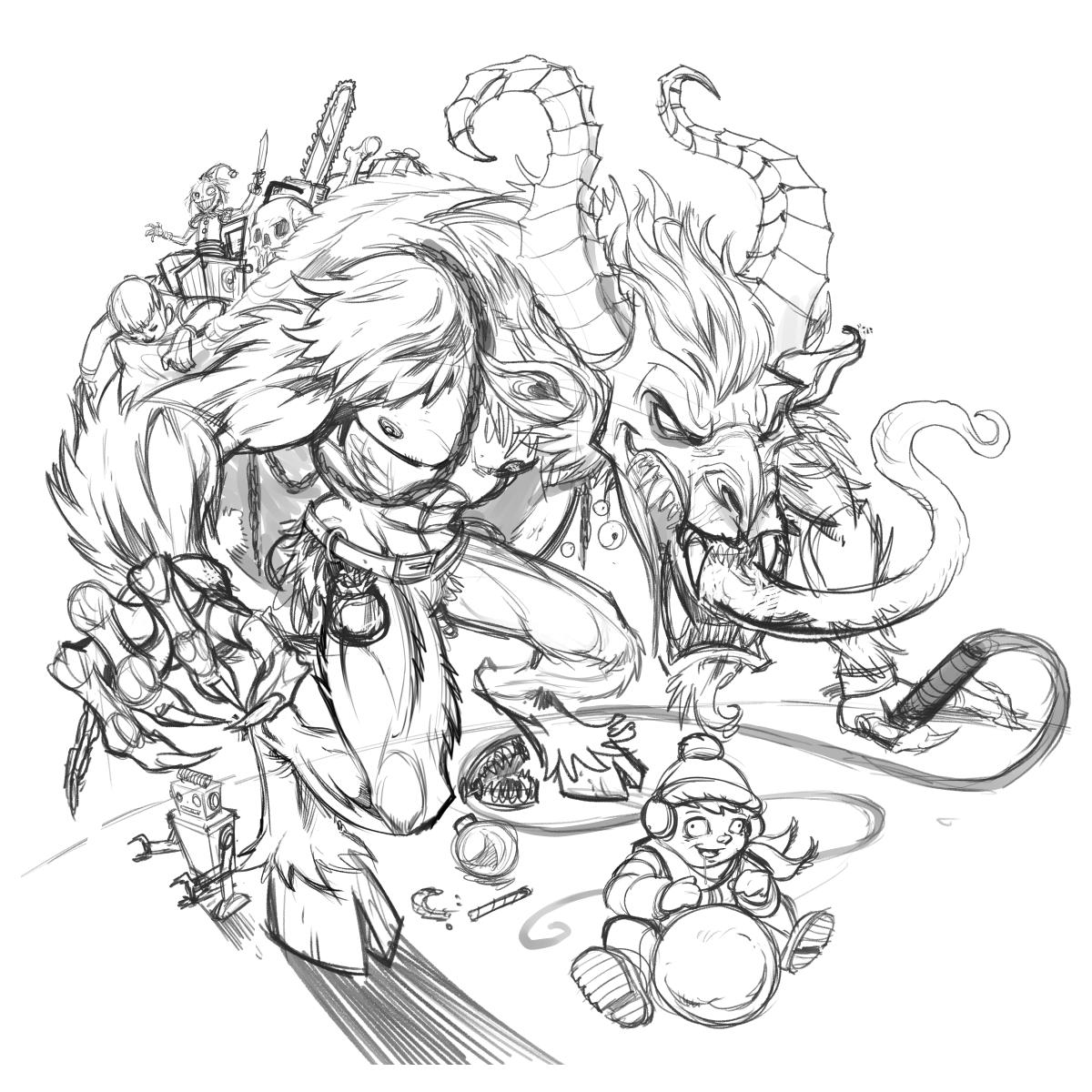 krampus drawing - Google Search   Krampus, Drawings, Sketches   1200x1200
