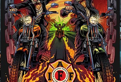 Album cover illustration of a sk