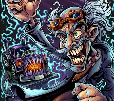 Mad scientist character