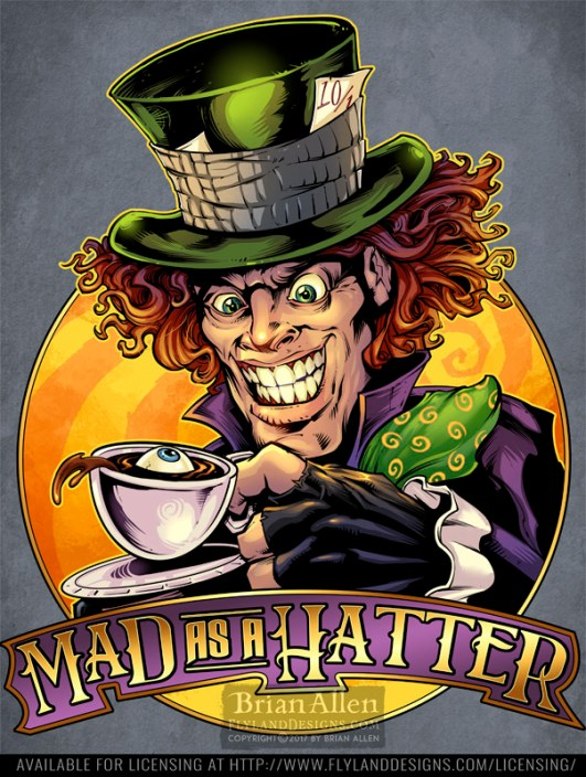 illustration of the mad hatter f