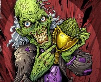 Zombie illustration for marijuana apparel brand