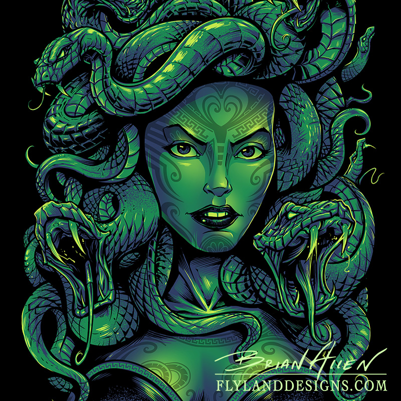 Medusa t shirt design flyland designs freelance for Pictures of designs