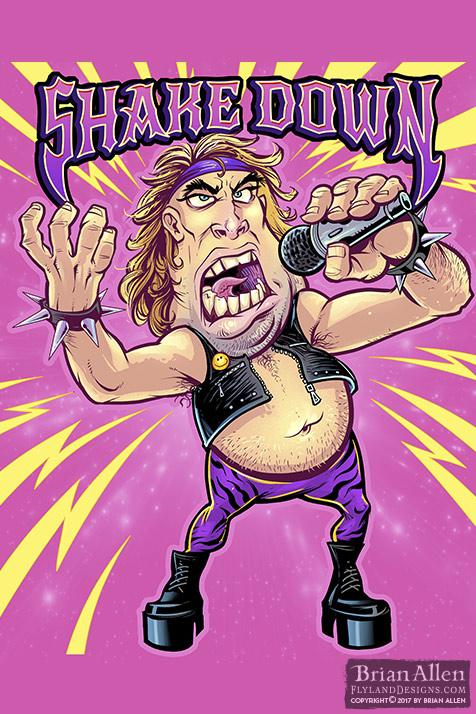 fat 80s heavy metal singer singi