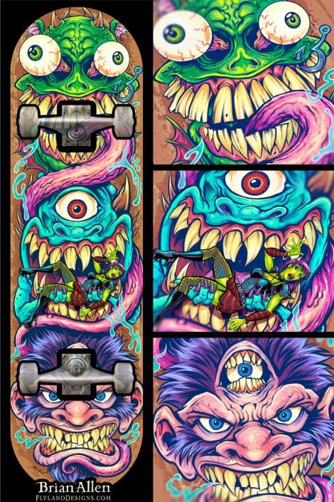 skateboard design of a few wicke