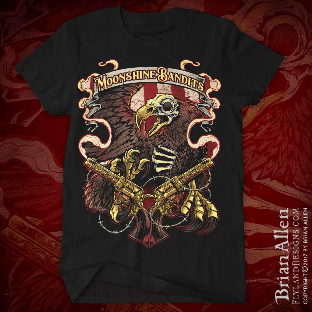 Moonshine Bandits Skeleton Eagle
