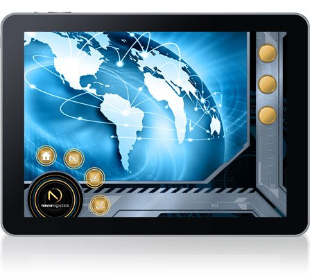 iPad App UI graphic design for shipping software