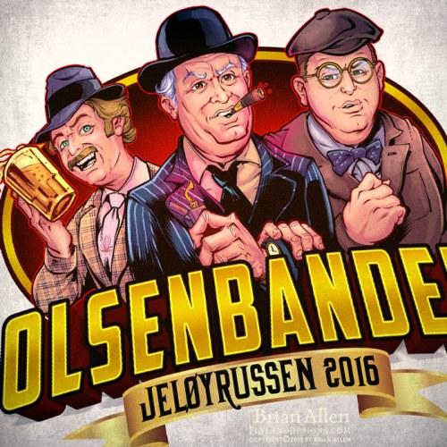 Olsenbanden caricatures for Russ logo