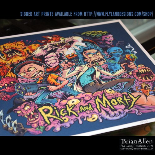 Rick-and-Morty-Art-Print-signed