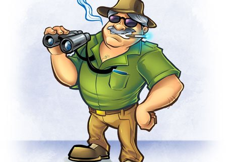 Safari mascot character