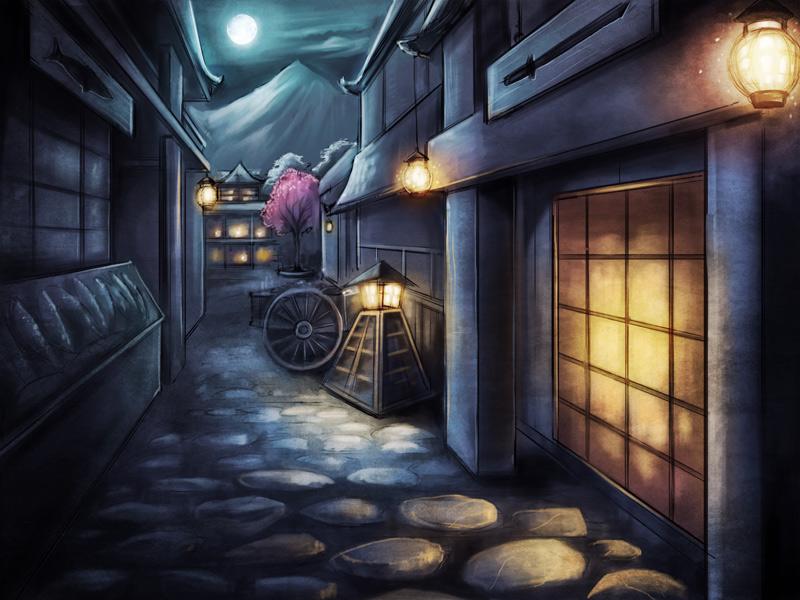 ancient japanese marketplace
