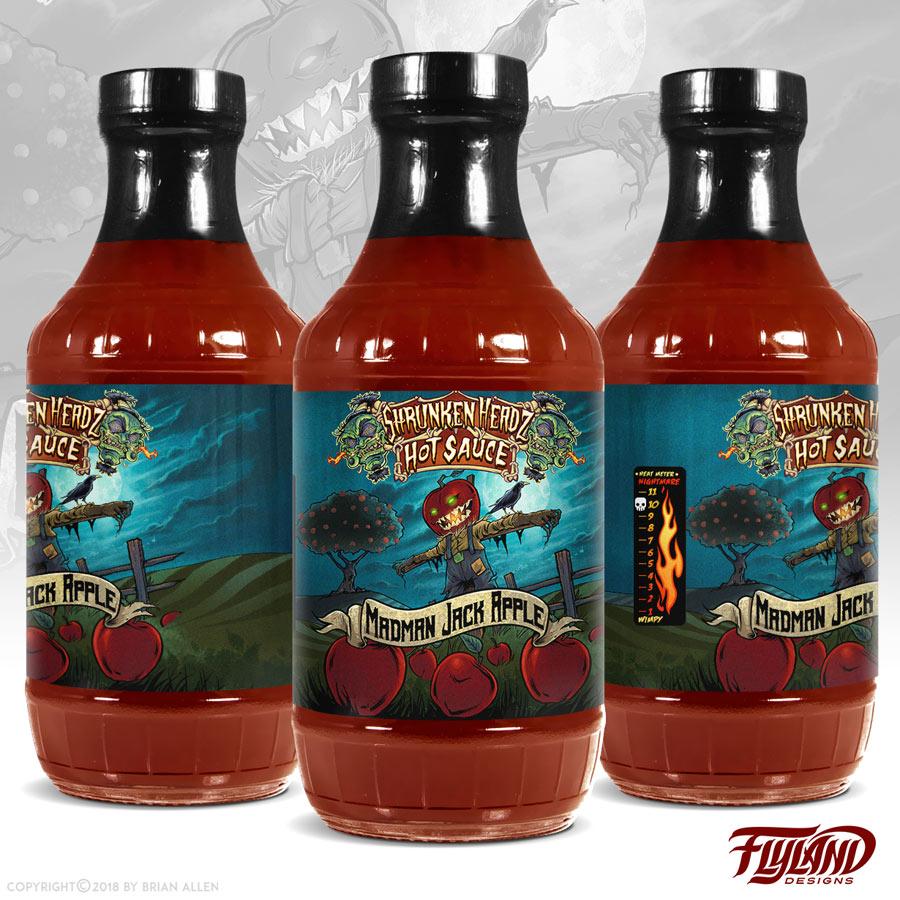 Hot Sauce Label Illustrations