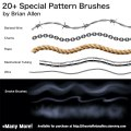Brush Presets for custom Special Pattern Brushes for Manga Studio 5