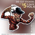 Die-cut sticker of horror movie monster Freddy