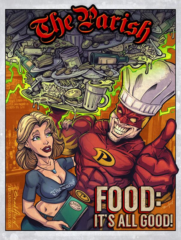 Superhero Bar Poster