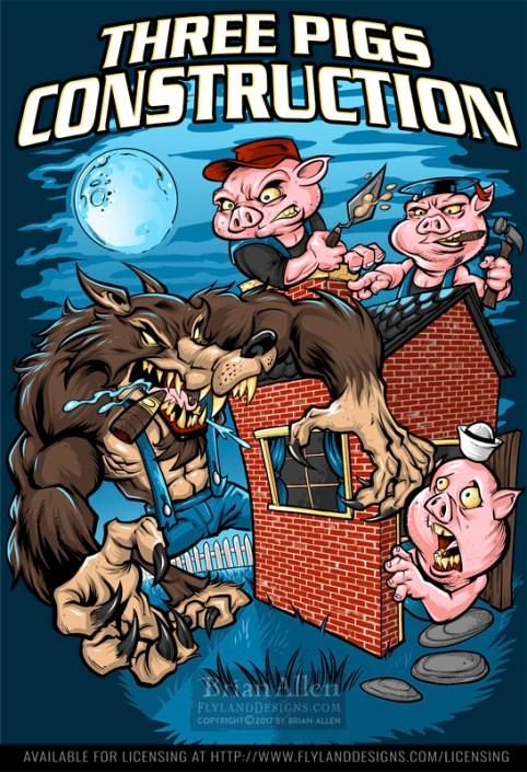 illustration of the big bad wolf