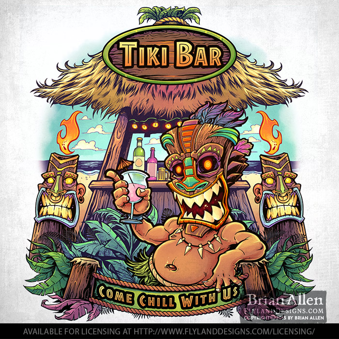 Tiki bar t-shirt licensing
