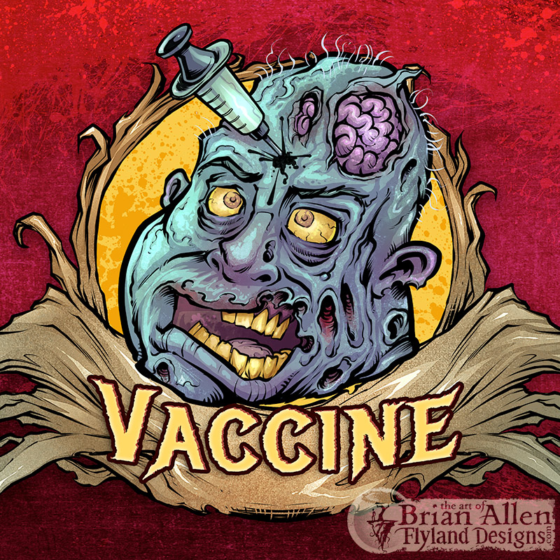 Zombie cartoon characters illustrations for eJuice vaping flavors