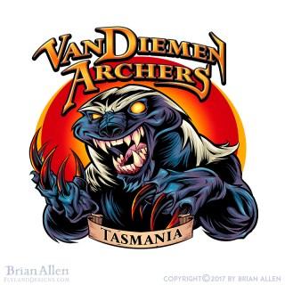 Angry honey badger mascot logo f
