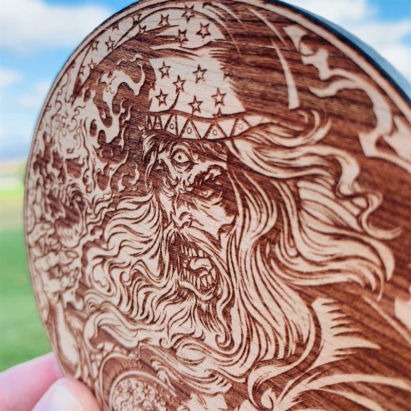 Wooden Disc Golf Disc Marker, La
