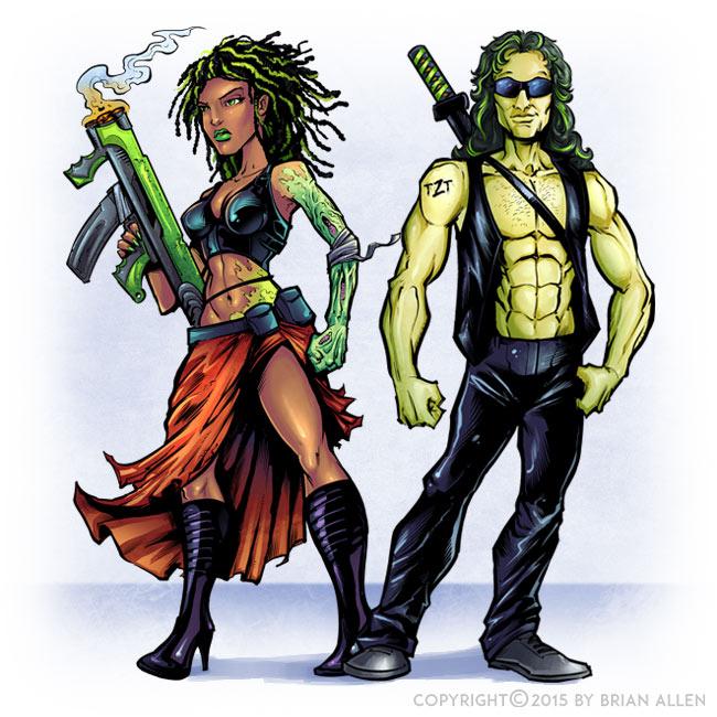 Comic book character designs