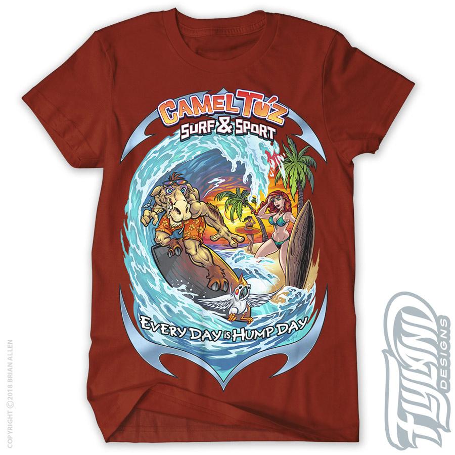 Six different T-shirt designs al