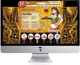 Website template design for Half Time Brewing Co