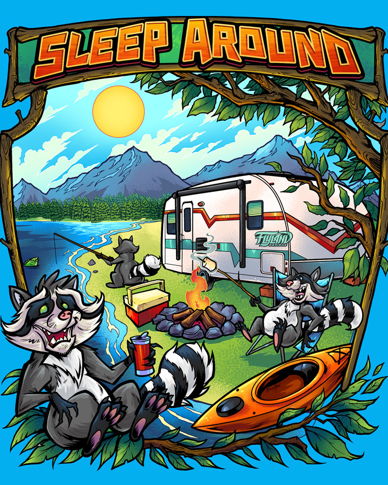 Camping Animals Designs