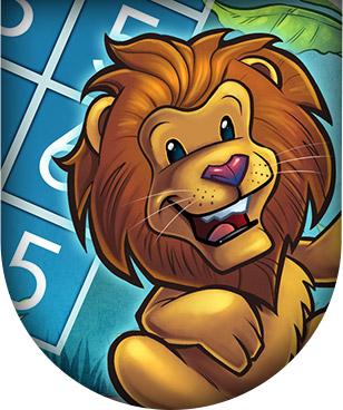 Web app illustration of a lion playing Sudoku