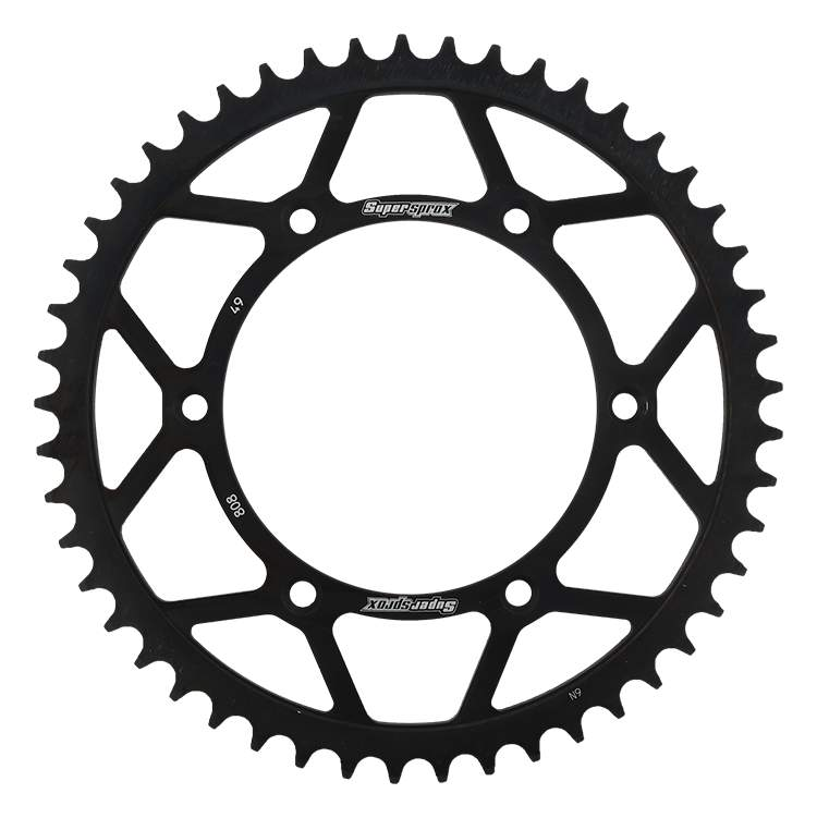Black Rear Steel Sprocket 49T Suzuki DRZ400E NON CA MODELS