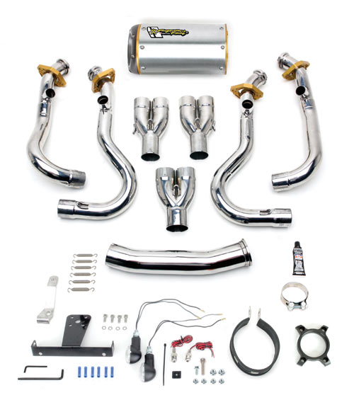 Two Brothers Full Exhaust with M-2 Aluminum Muffler For