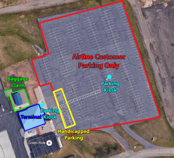 Image of the airline parking lot