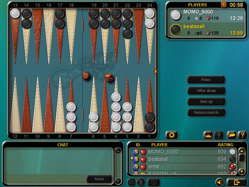 تحميل لعبة الذكاء طاولة الزهر Backgammon مجانا للكمبيوتر